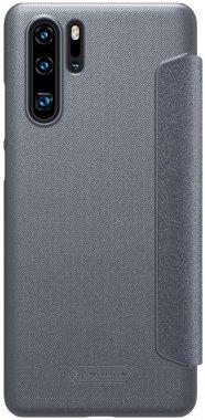 black case chehol huawei knizhka leather nillkin p30pro sparkle