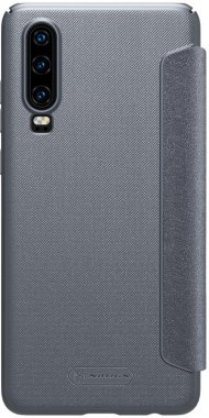 black case chehol huawei knizhka leather nillkin p30 sparkle