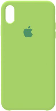 apple case chehol green iphone nakladka silicone xsmax