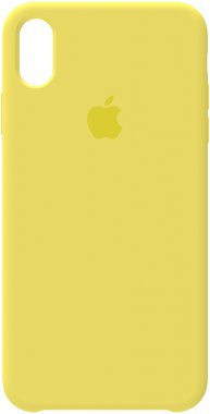 apple case chehol iphone lemon nakladka silicone xsmax yellow