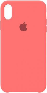 apple case chehol iphone nakladka peach pink silicone xsmax