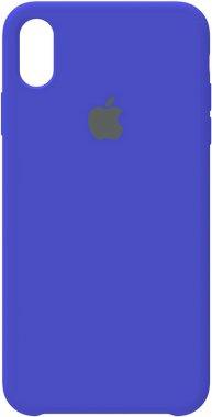 apple blue case chehol iphone nakladka royal silicone xsmax