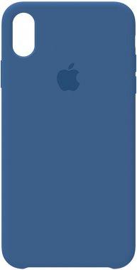 apple blue case chehol iphone nakladka silicone vivid xs