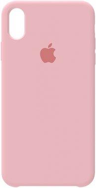apple case chehol iphone nakladka pink rose silicone xs