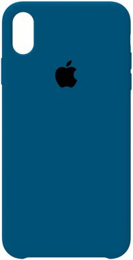 apple blue case chehol cobalt iphone nakladka silicone xs