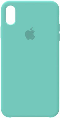 apple blue case chehol iphone nakladka silicone xsice