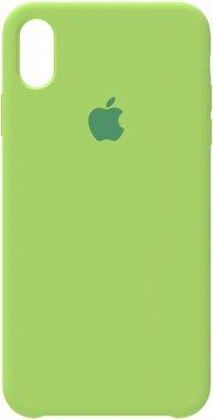 apple case chehol green iphone nakladka silicone xs