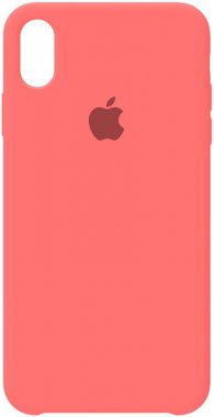 apple case chehol iphone nakladka peach pink silicone xs