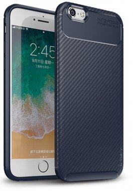 apple blue carbon case chehol fiber ipaky iphone nakladka seriessoft tpu66s