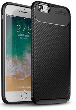 apple black carbon case chehol fiber ipaky iphone nakladka seriessoft tpu66s