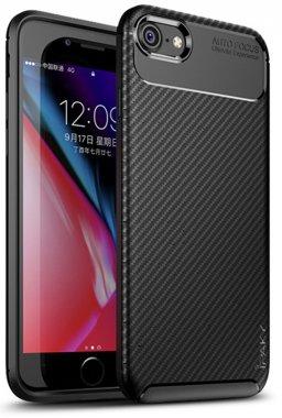 apple black carbon case chehol fiber ipaky iphone nakladka seriessoft tpu78