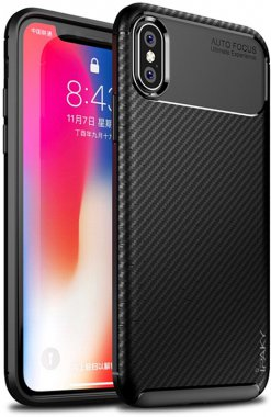 apple black carbon case chehol fiber ipaky iphone nakladka seriessoft tpux