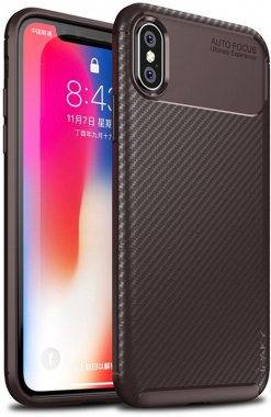 apple brown carbon case chehol fiber ipaky iphone nakladka seriessoft tpuxs