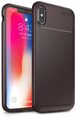 apple brown carbon case chehol fiber ipaky iphone nakladka seriessoft tpuxsmax