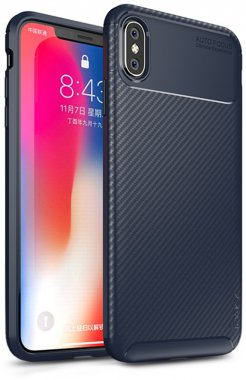 apple blue carbon case chehol fiber ipaky iphone nakladka seriessoft tpuxsmax