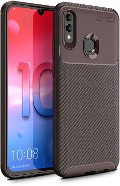 2019 brown carbon case chehol fiber huawei ipaky nakladka seriessoft smart tpup