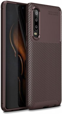 brown carbon case chehol fiber huawei ipaky nakladka seriessoft tpup30
