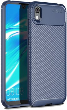 2019 blue carbon case chehol fiber huawei ipaky nakladka seriessoft tpuy5