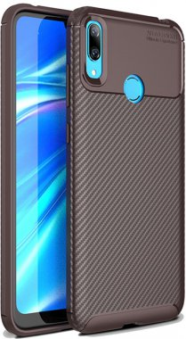 2019 brown carbon case chehol fiber huawei ipaky nakladka seriessoft tpuy7