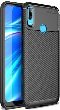 2019 black carbon case chehol fiber huawei ipaky nakladka seriessoft tpuy7