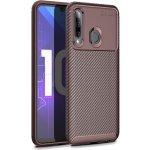 Чехол-накладка Ipaky Carbon Fiber Series/Soft TPU Case для Huawei P Smart+ 2019 Brown