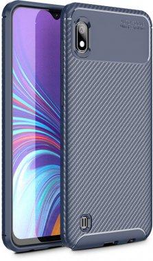 a10m10 blue carbon case chehol fiber galaxy ipaky nakladka samsung seriessoft tpu