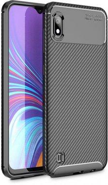 a10m10 black carbon case chehol fiber galaxy ipaky nakladka samsung seriessoft tpu