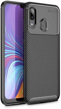 black carbon case chehol fiber galaxy ipaky nakladka samsung seriessoft tpua40