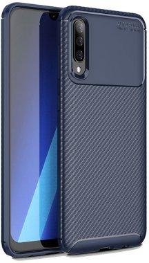 blue carbon case chehol fiber galaxy ipaky nakladka samsung seriessoft tpua50