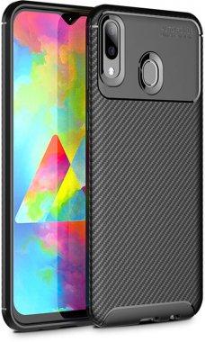 black carbon case chehol fiber galaxy ipaky nakladka samsung seriessoft tpum20