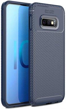 blue carbon case chehol fiber galaxy ipaky nakladka s10e samsung seriessoft tpu