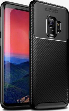 black carbon case chehol fiber galaxy ipaky nakladka s9plus samsung seriessoft tpu