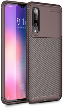 brown carbon case chehol fiber ipaky nakladka seriessoft tpumi9 xiaomi
