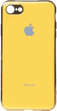 apple case chehol electroplate iphone nakladka toto tpu66s yellow