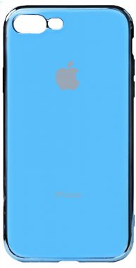 apple blue case chehol electroplate iphone nakladka plus plus8 toto tpu7