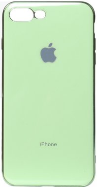 apple case chehol electroplate green iphone nakladka plus plus8 toto tpu7