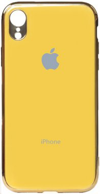 apple case chehol electroplate iphone nakladka toto tpuxr yellow