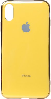 apple case chehol electroplate iphone nakladka toto tpuxsmax yellow