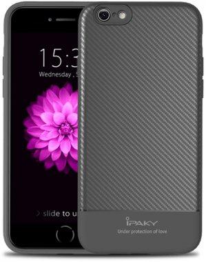 66s apple carbon case chehol fiber gray ipaky iphone nakladka seriestpu with