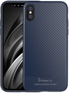 apple blue carbon case chehol fiber ipaky iphone nakladka seriestpu with x
