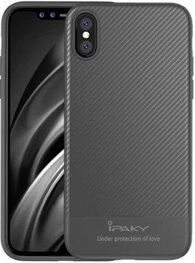 apple carbon case chehol fiber gray ipaky iphone nakladka seriestpu with x