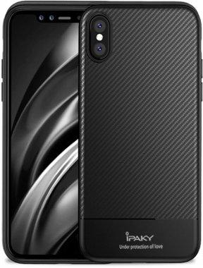 apple black carbon case chehol fiber ipaky iphone nakladka seriestpu with xsmax