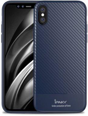 apple blue carbon case chehol fiber ipaky iphone nakladka seriestpu with xsmax