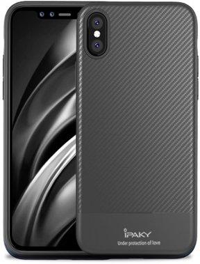 apple carbon case chehol fiber gray ipaky iphone nakladka seriestpu with xsmax