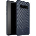 Чехол-накладка Ipaky Carbon Fiber Series/TPU Case With Samsung Galaxy S10 Blue