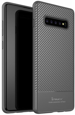 carbon case chehol fiber galaxy gray ipaky nakladka s10 samsung seriestpu with