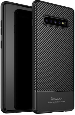 black carbon case chehol fiber galaxy ipaky nakladka s10plus samsung seriestpu with