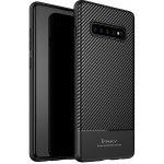 Чехол-накладка Ipaky Carbon Fiber Series/TPU Case With Samsung Galaxy S10+ Black