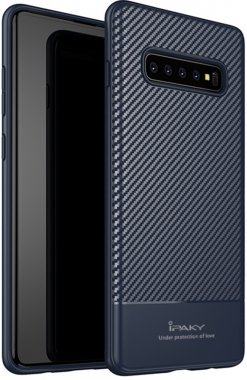blue carbon case chehol fiber galaxy ipaky nakladka s10plus samsung seriestpu with