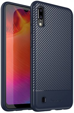 blue carbon case chehol fiber galaxy ipaky m10 nakladka samsung seriestpu with